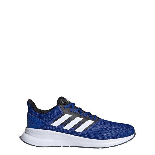 Tênis Adidas Runfalcon Masculino - Azul Royal+Branco