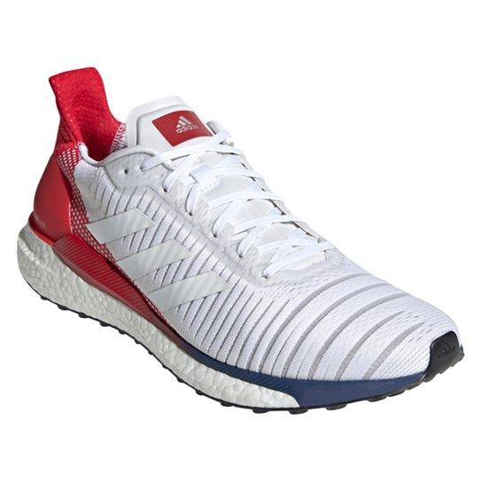 Tênis Adidas Solar Glide Boost 19 Masculino - Branco+Vermelho