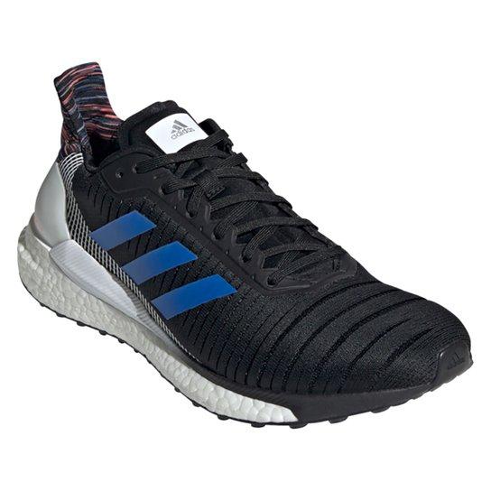 Tênis Adidas Solar Glide Boost 19 Masculino - Preto+Azul