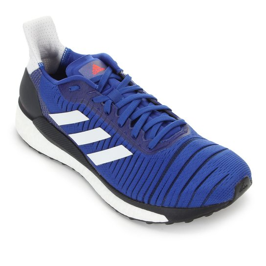 Tênis Adidas Solar Glide Boost 19 Masculino - Azul+Branco