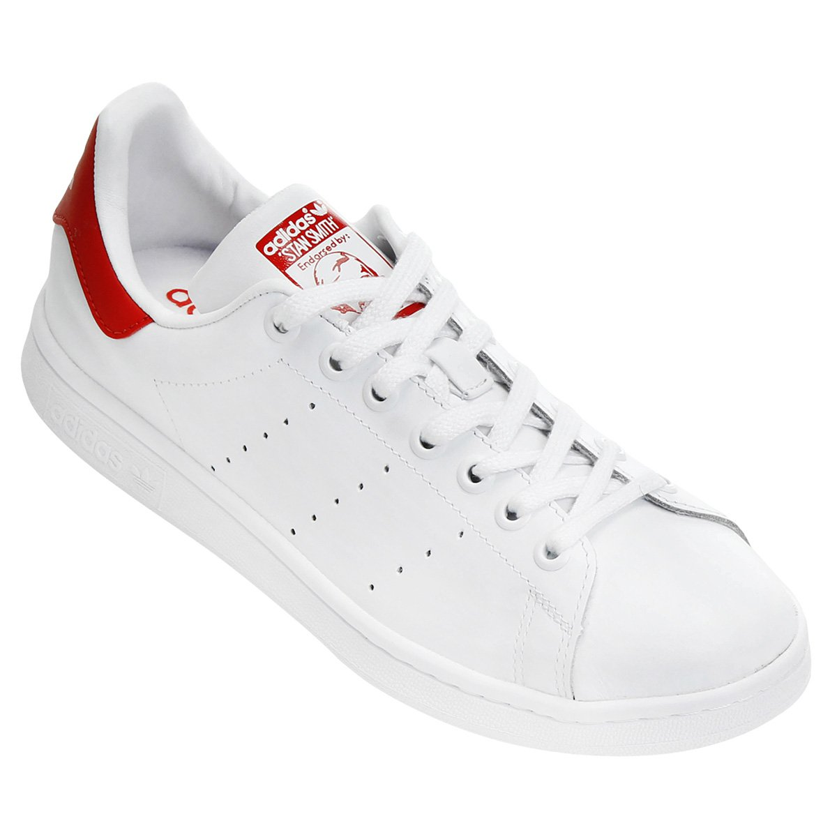 3088b23da7c98 Tênis Adidas Stan Smith - Branco e Vermelho - Compre Agora