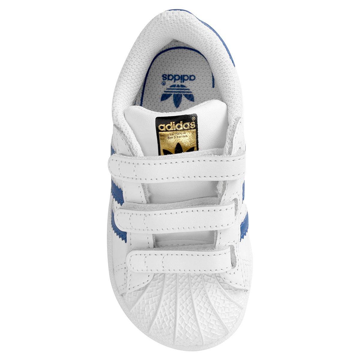 7a07a5d7f4 Tênis Adidas Superstar Foundation Cf Infantil - Compre Agora