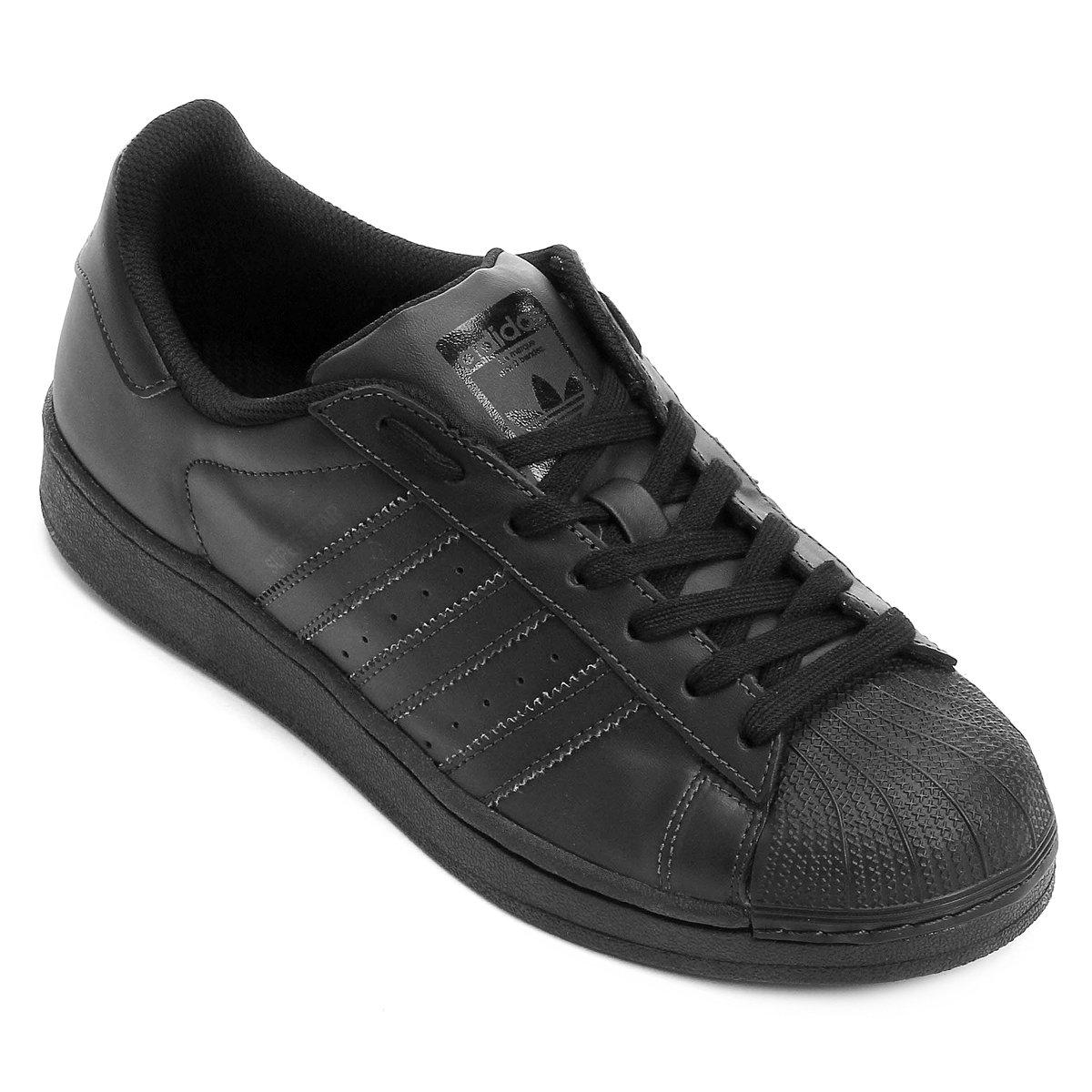 Tênis Adidas Superstar Foundation - Preto - Compre Agora  7dbc9bca538ee