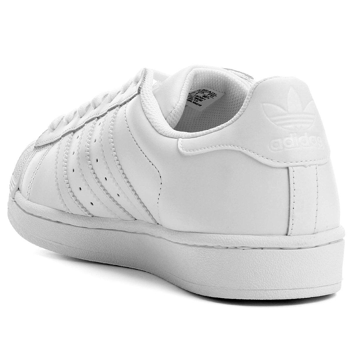 Tênis Adidas Superstar Foundation - Branco - Compre Agora  d1096676f4f70