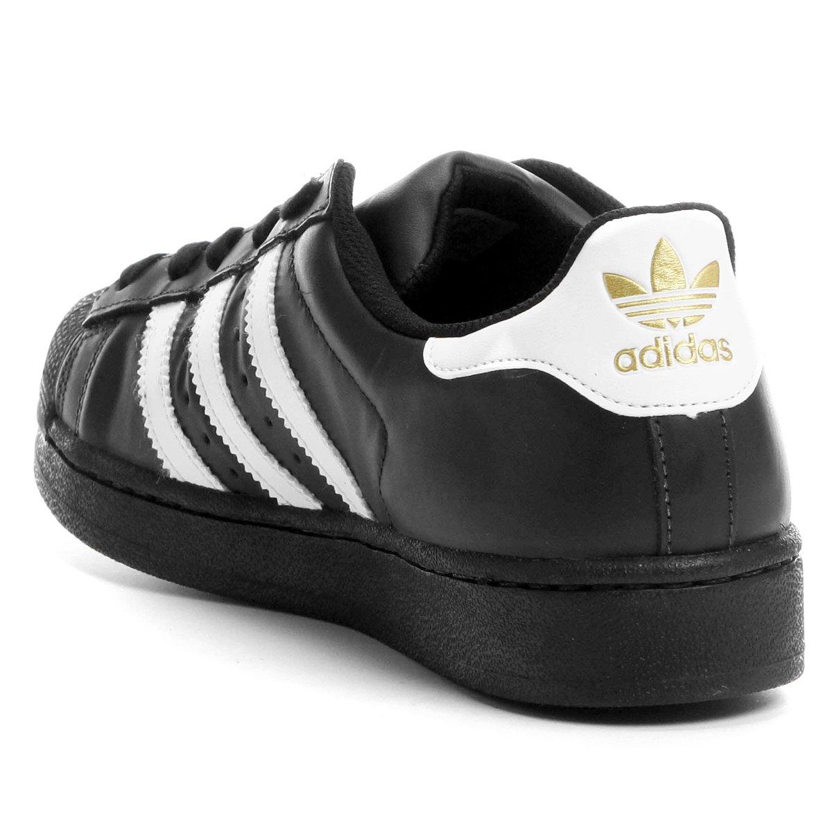 Tênis Adidas Superstar Foundation - Preto e Branco - Compre Agora ... 9fdbca4994047