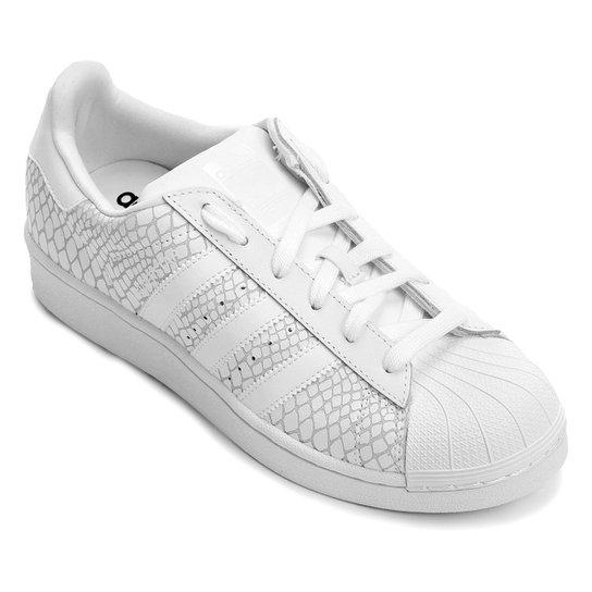 Tênis Adidas Superstar W - Branco+Areia