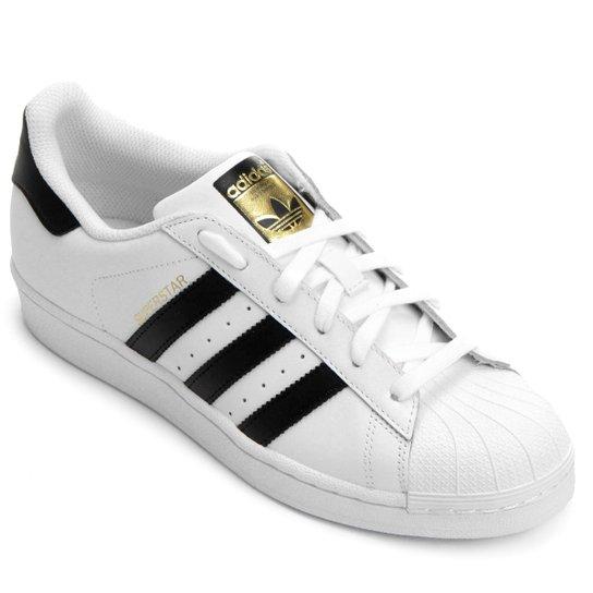 Tênis Adidas Superstar W - Branco+Grafite