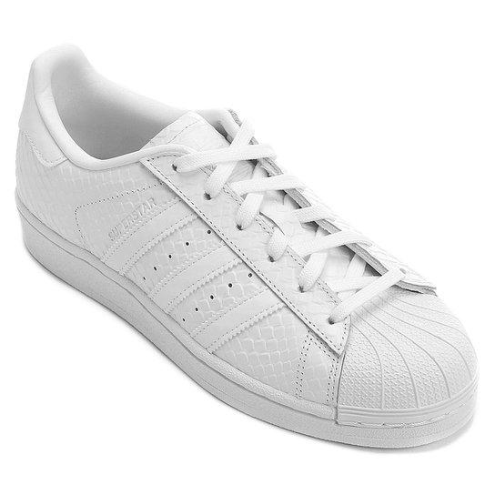 Tênis Adidas Superstar W - Branco+Preto