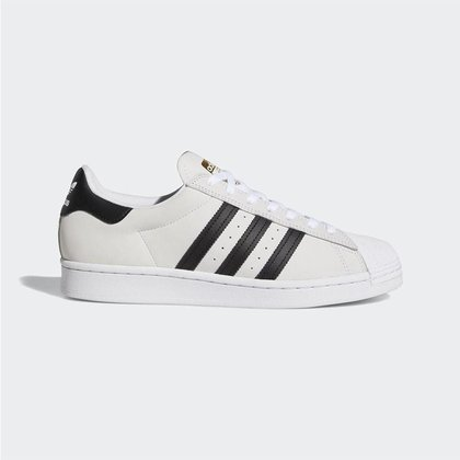 Tênis Adidas SuperStar White Black Gold