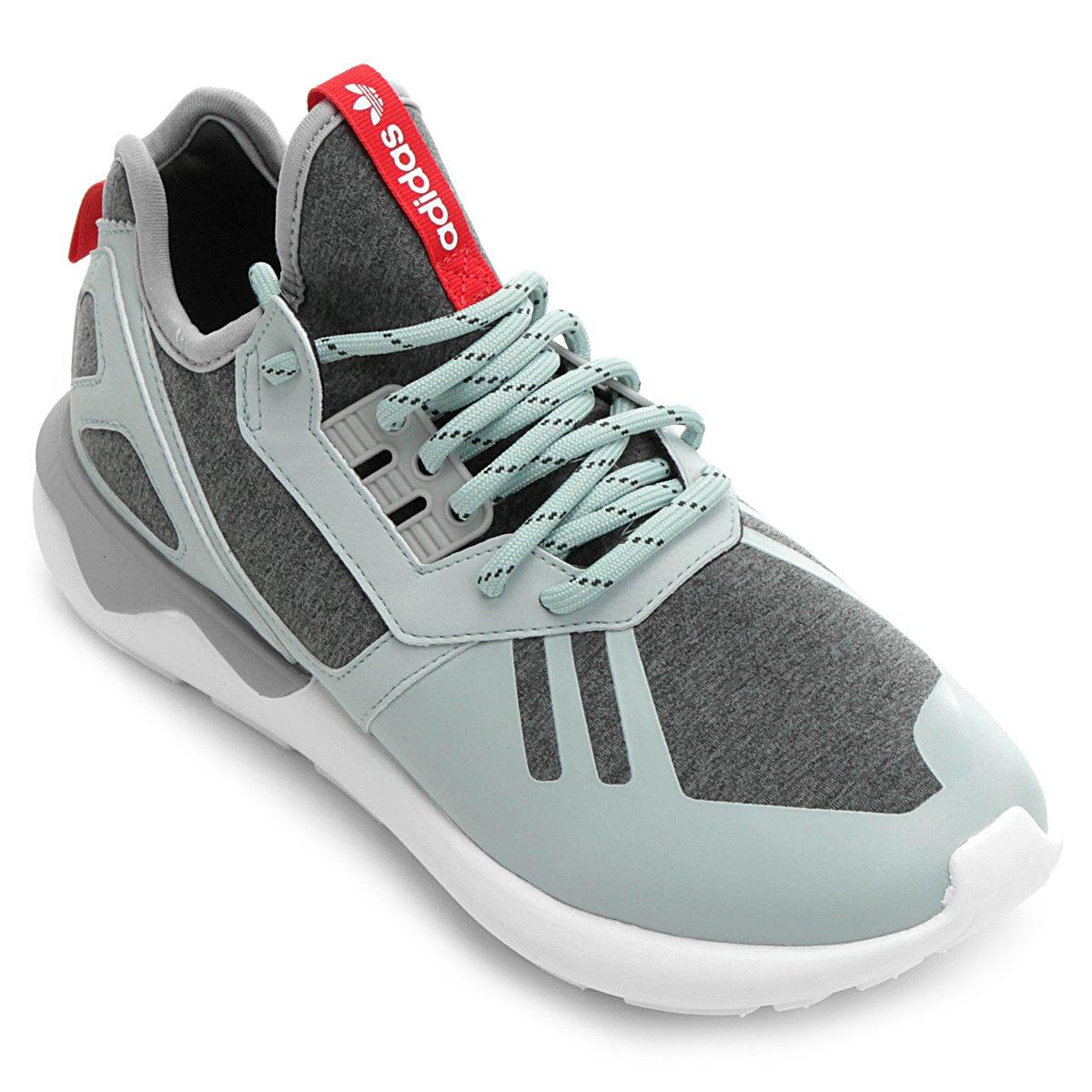 7e87e5378333 Tênis Adidas Tubular Runner Weave - Cinza e Verde Água