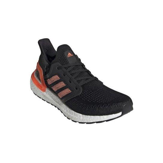 Tênis Adidas Ultraboost 20 Feminino - Preto+Laranja