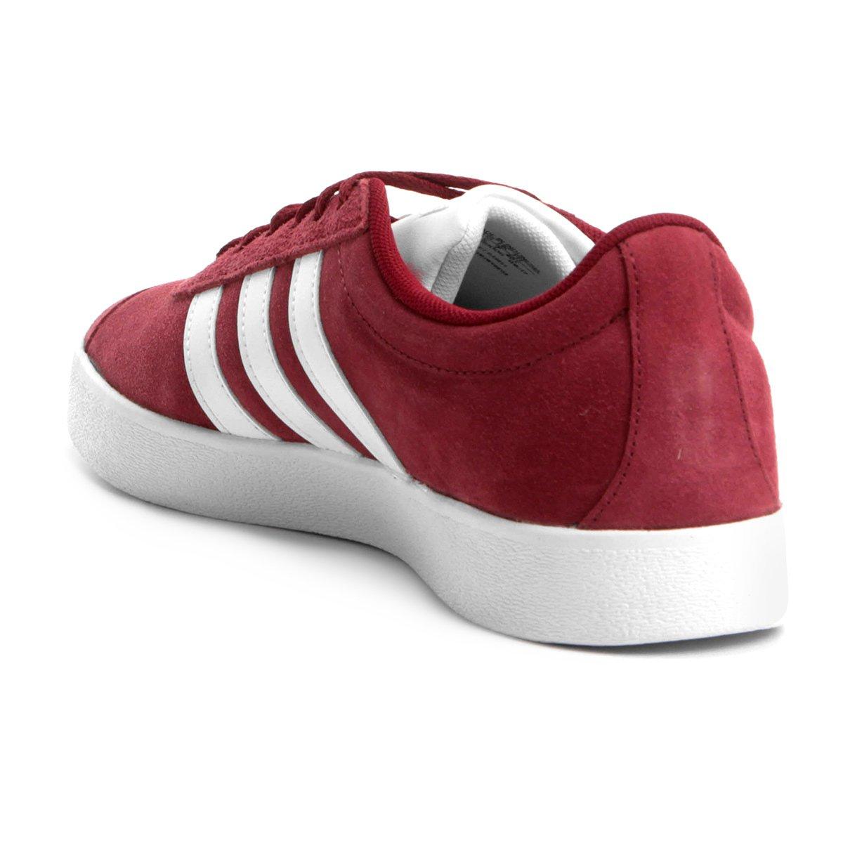 e Tênis 2 Branco Court Vermelho Masculino Tênis Adidas Adidas Vl gFqHR