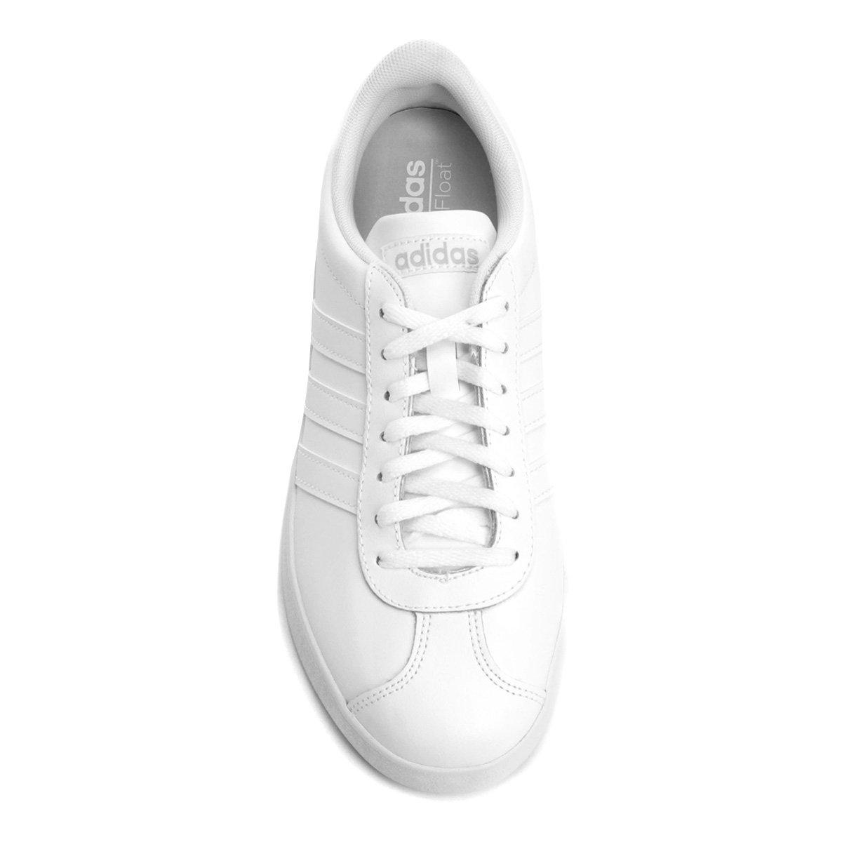 Tênis Adidas Vl Court 2 W Feminino - Branco - Compre Agora  877bbe4f8af50