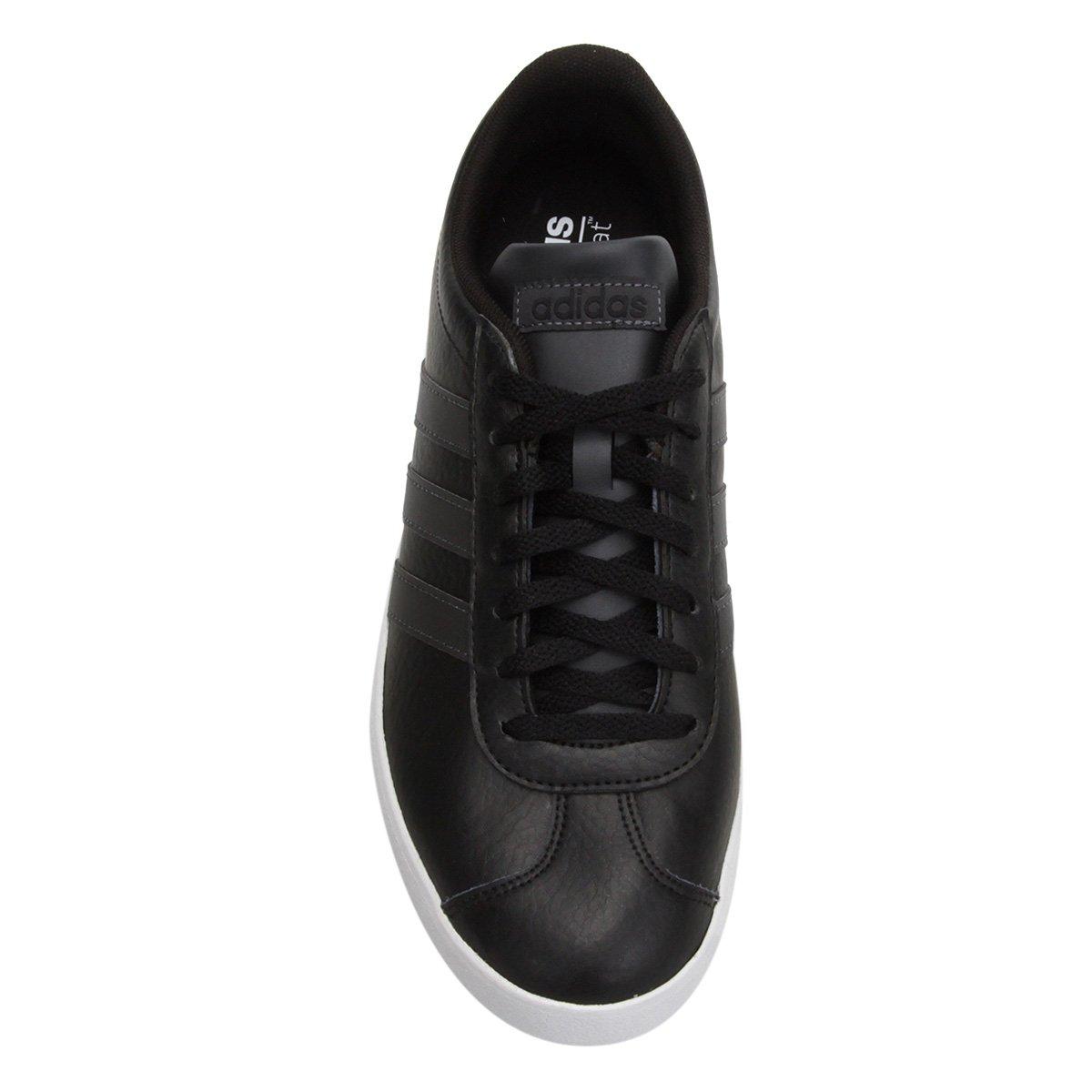 ceaf88bb16 Tênis Adidas VL Court 2.0 Masculino - Preto e Branco - Compre Agora ...