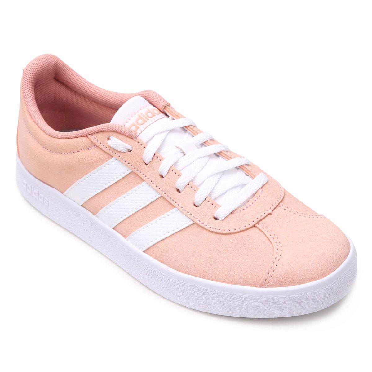 adidas grand court feminino rosa