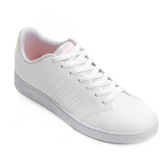 Tênis Adidas Vs Advantage Clean Feminino - Branco+Areia