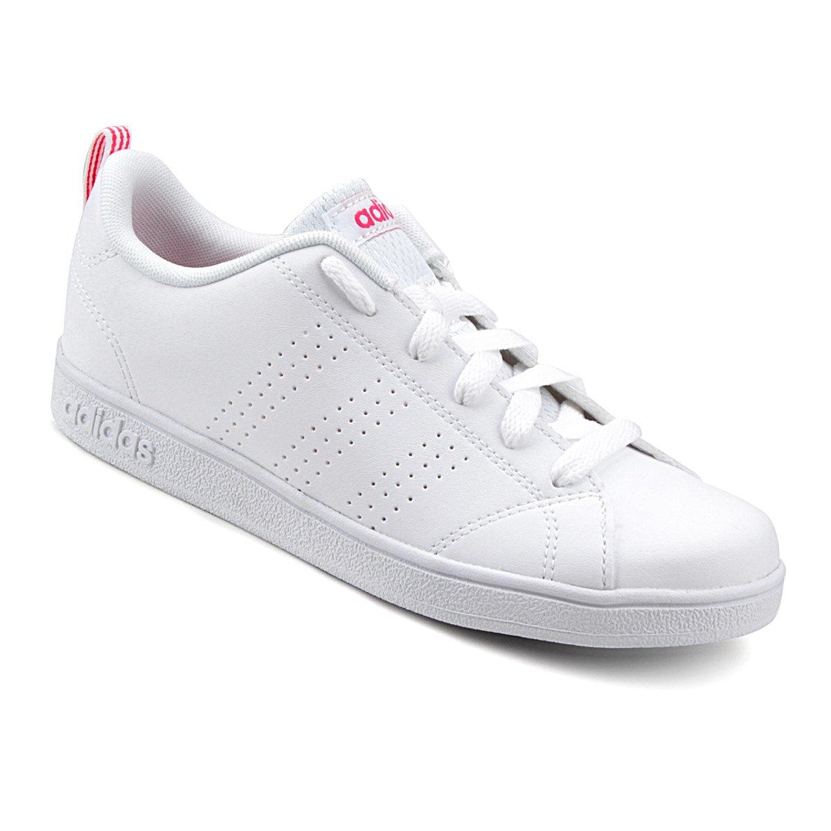 7c92e443df7 Tênis Adidas Vs Advantage Clean K Infantil - Branco e Vermelho - Compre  Agora
