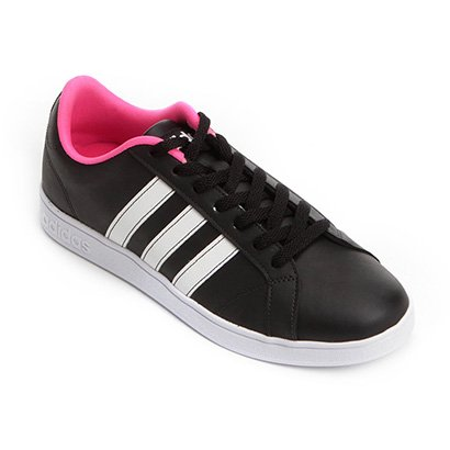 tenis adidas feminino cano alto rosa e preto