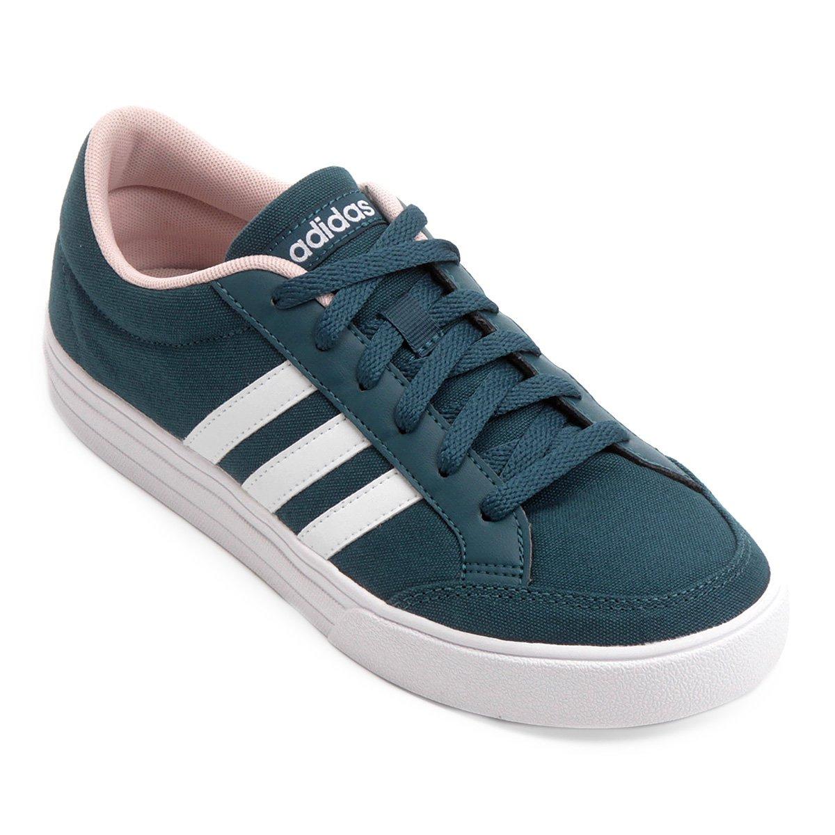 8024f71bfdc Tênis Adidas Vs Set W Feminino - Azul Petróleo - Compre Agora