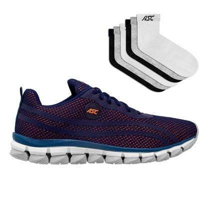 adidas cm8111 sneakers sale women boots clearance Masculino - Marinho/laranja E Cinza E 6 Pares De Meia Cano Medio