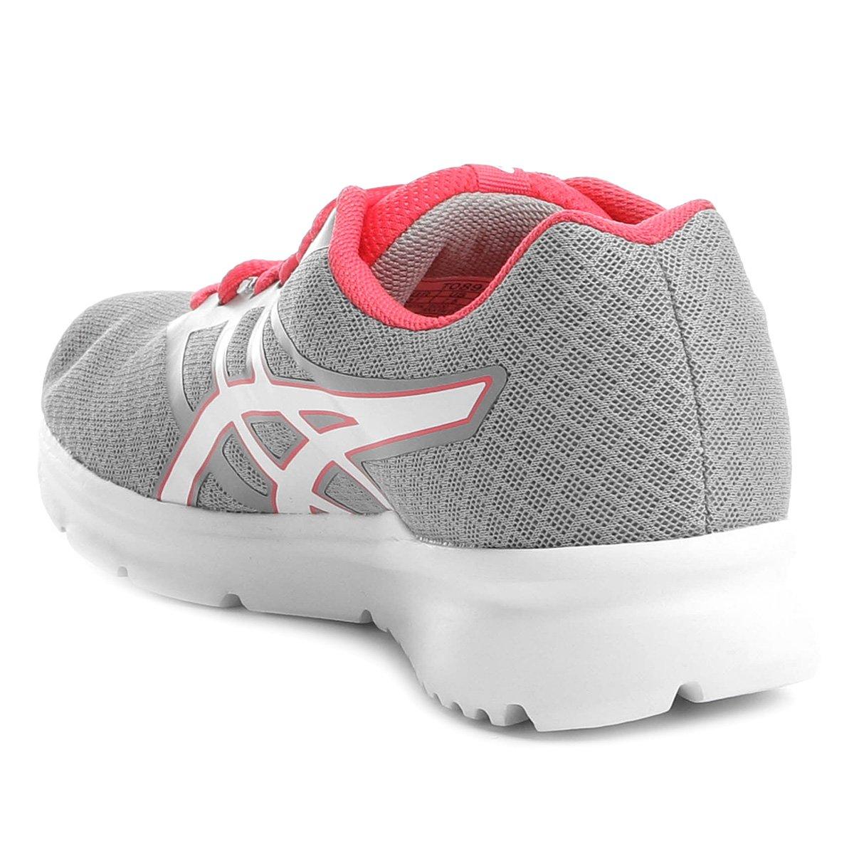 Tênis Asics Blocker Feminino - Prata e Rosa - Compre Agora  acda86e27aadb