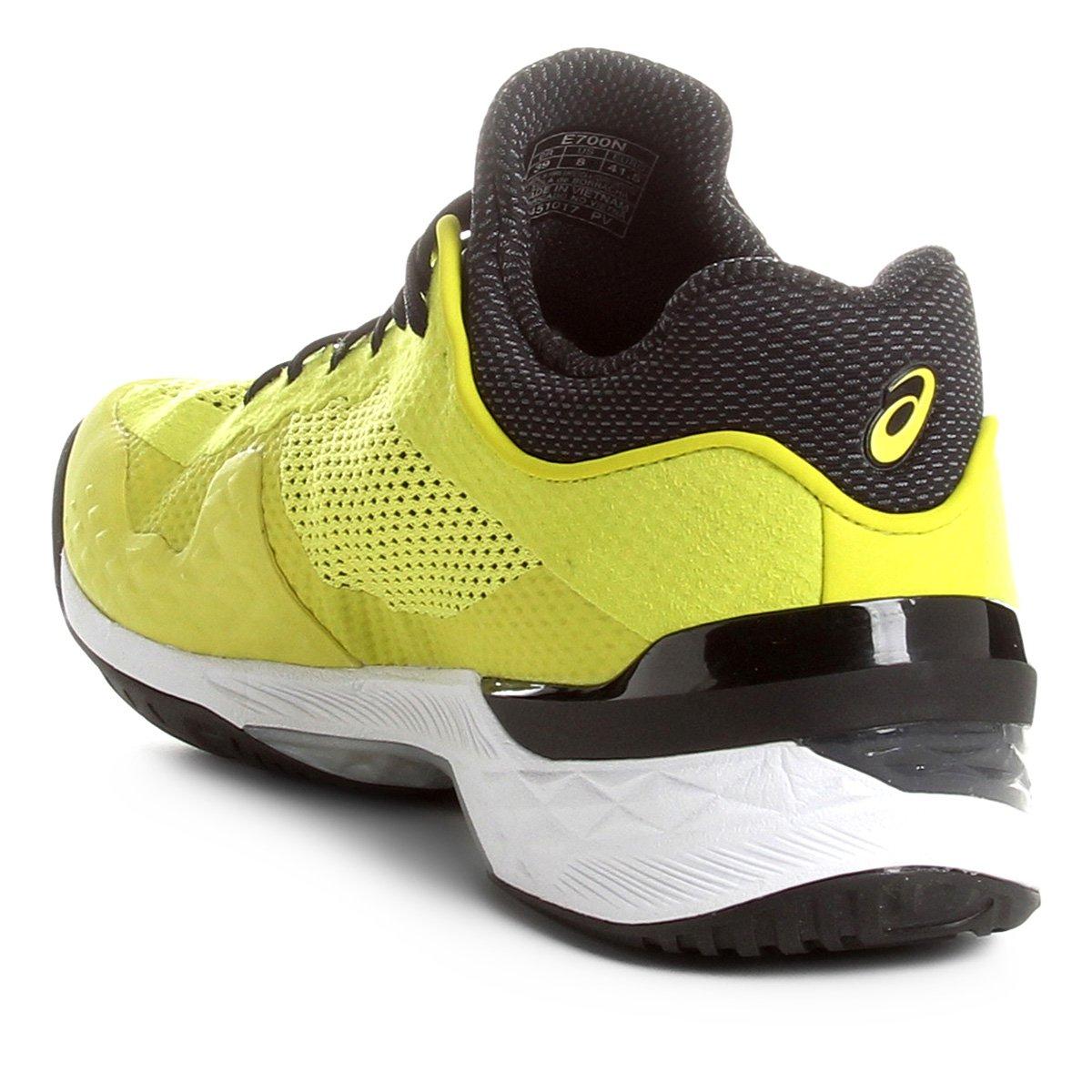 38f38016ee Tênis Asics Court FF Masculino - Preto e Amarelo - Compre Agora ...