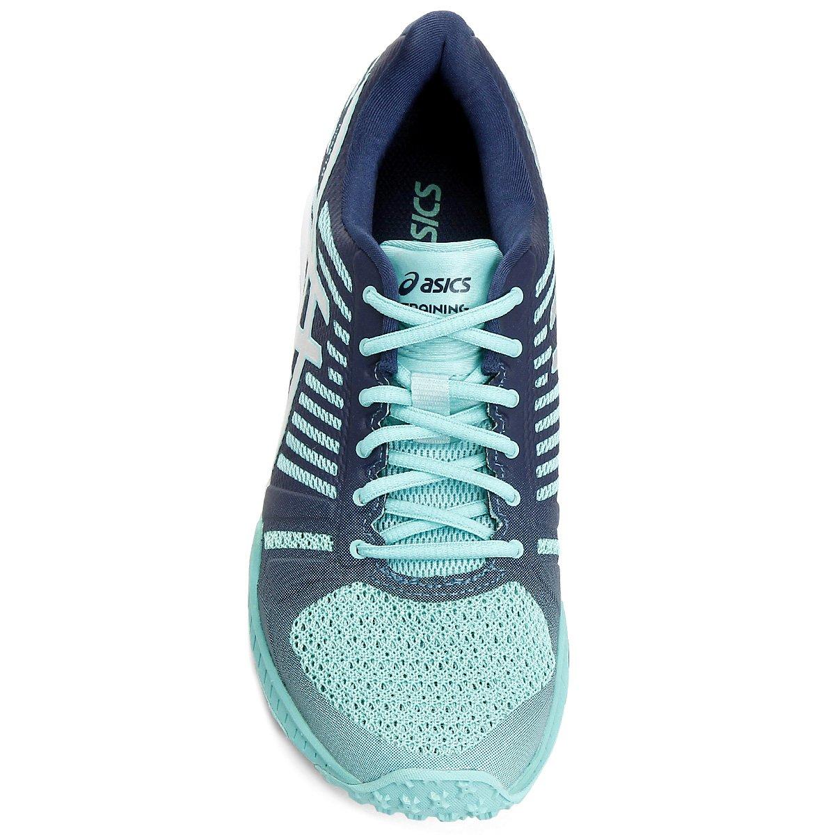 Tênis Asics FuzeX TR Feminino - Verde e Azul - Compre Agora  093f31cd35799