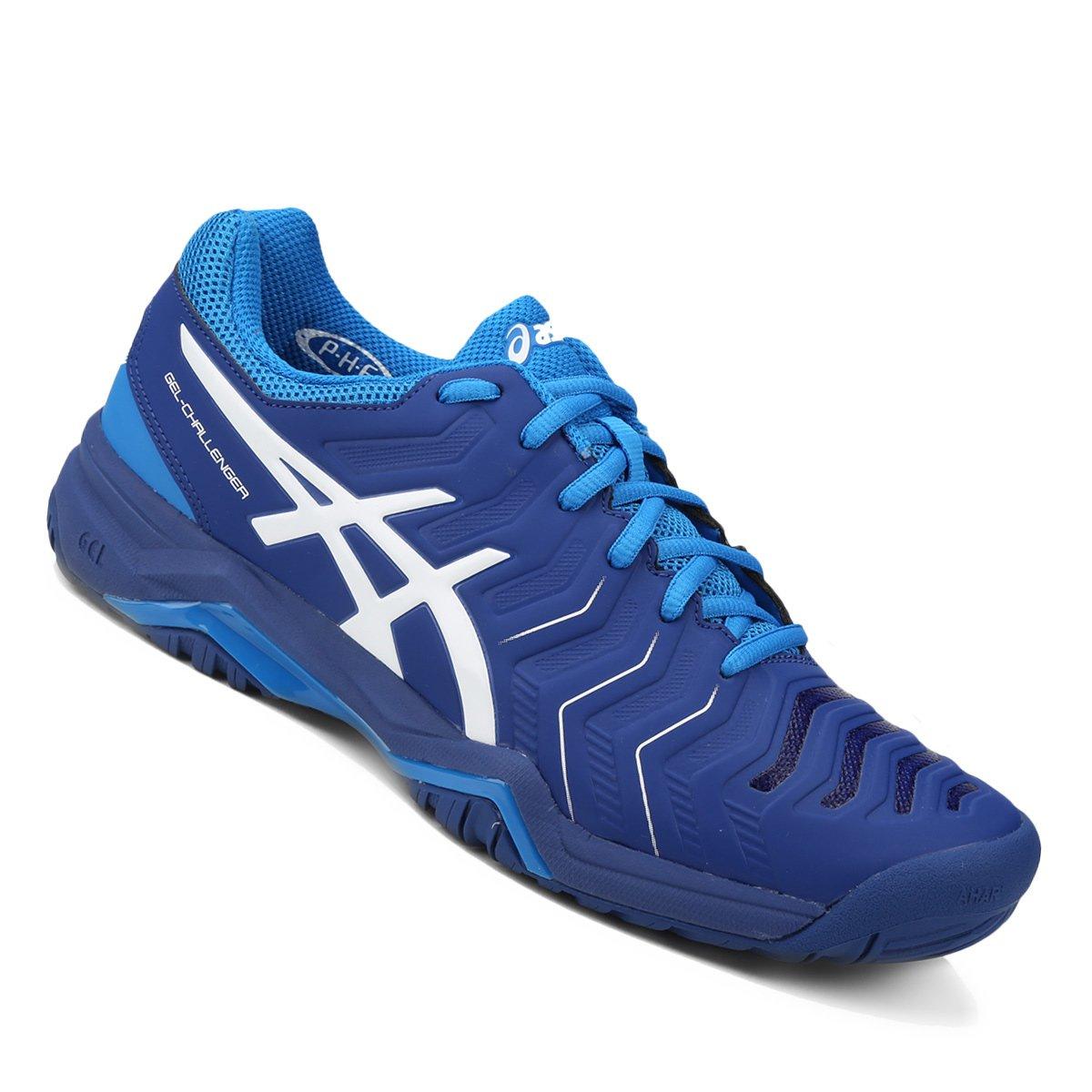 ed4336ae26 Tênis Asics Gel Challenger 11 Masculino - Azul e Branco - Compre ...