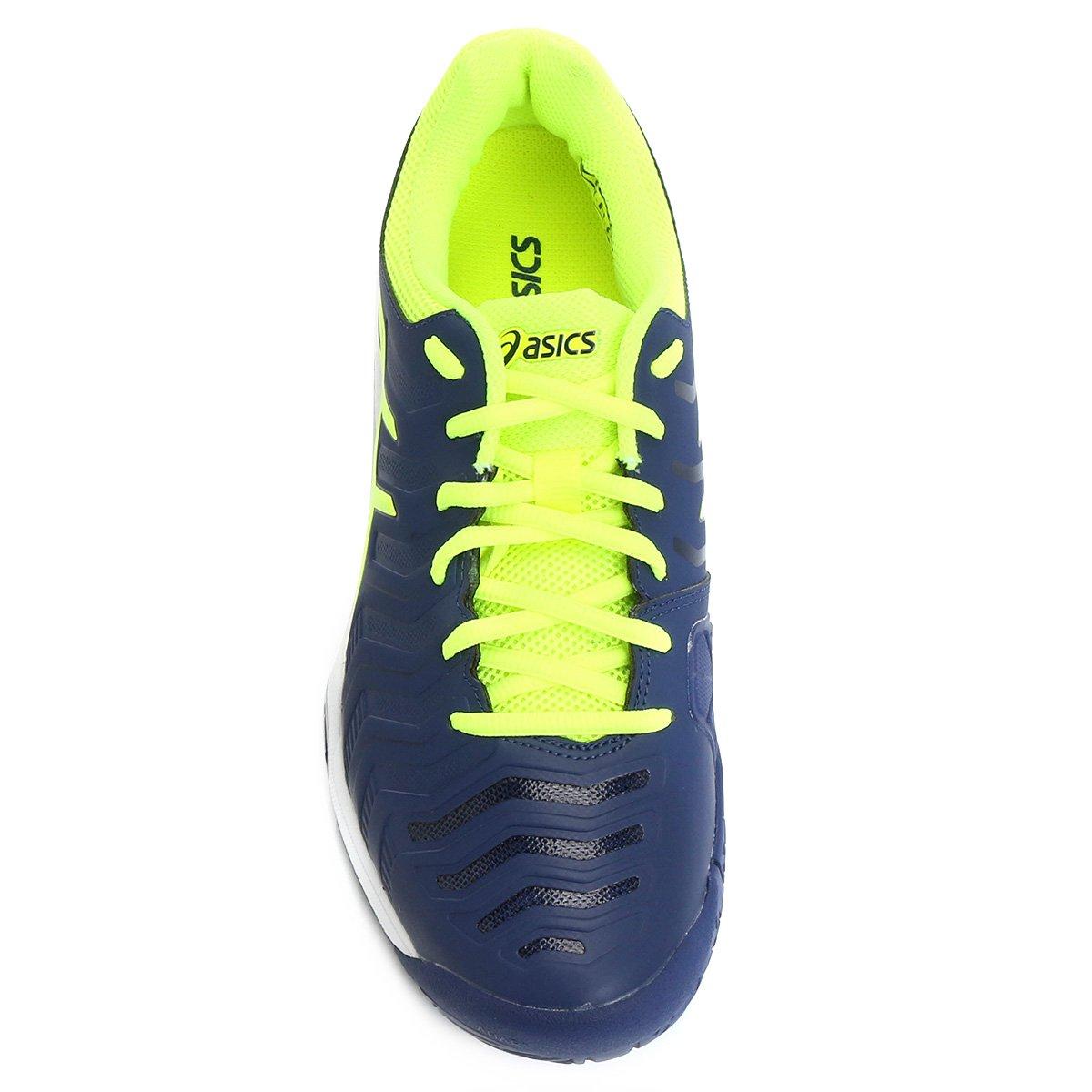 Tênis Asics Gel Challenger 11 Masculino - Marinho e Verde Limão ... f10051bc87146