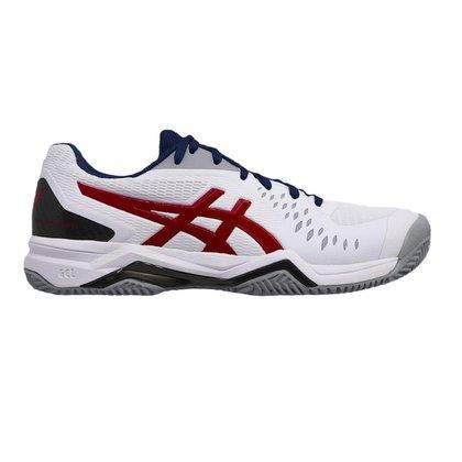 Tenis Asics Gel Challenger 12 Clay Masculino - Branco, Azul E Vermelho