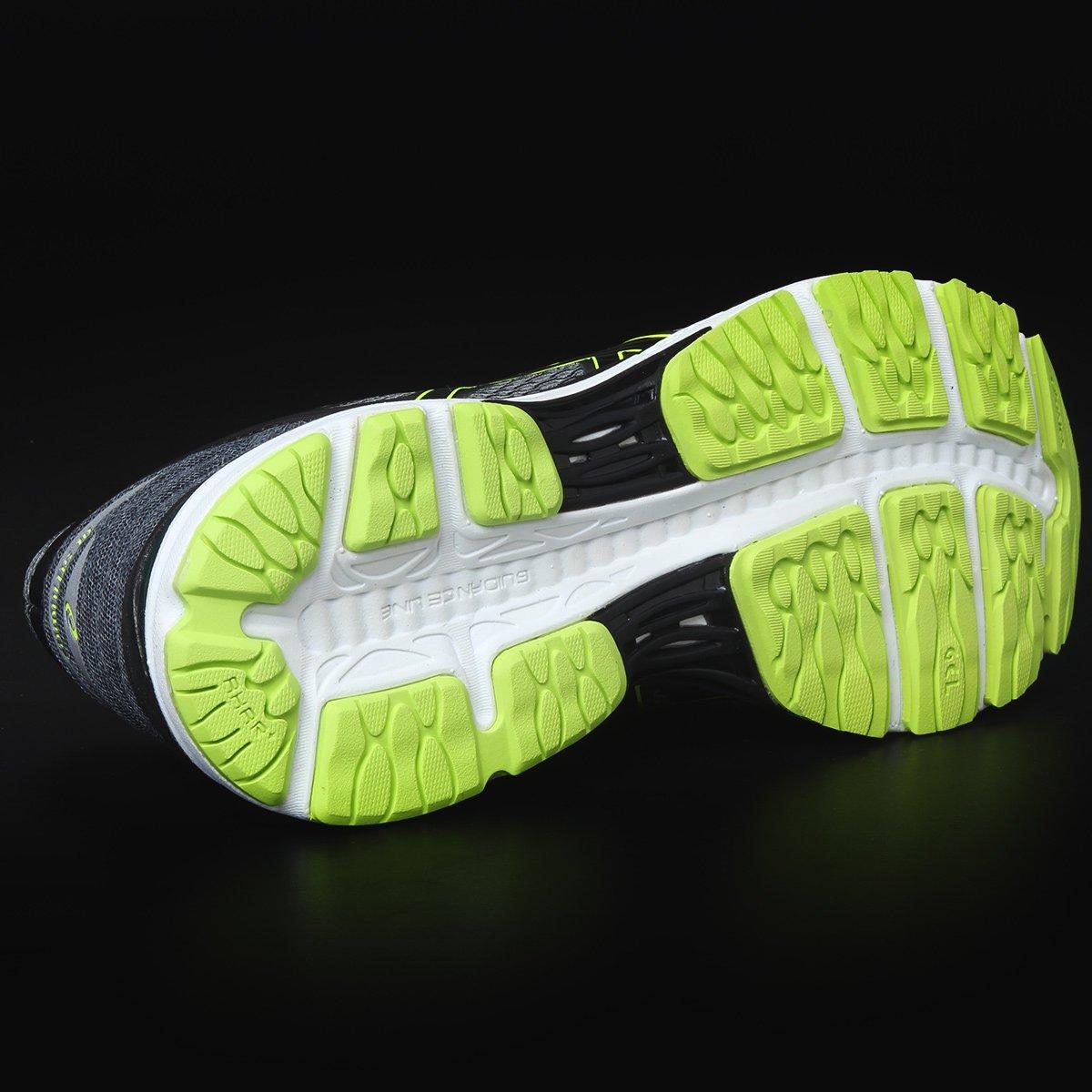Tênis Asics Gel Cumulus 18 Masculino - Chumbo e Verde Limão - Compre ... 70999f6832f50