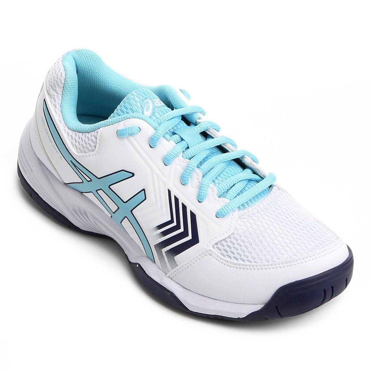 85de0fb19baf6 Tênis Asics Gel-Dedicate 5A Feminino - Branco e Azul - Compre Agora ...