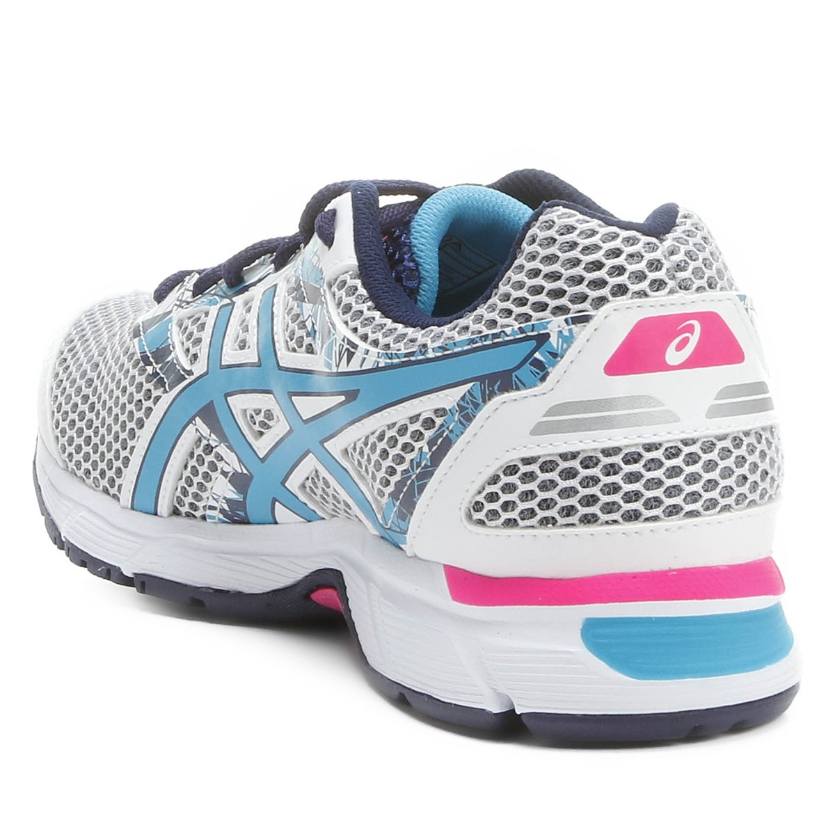 Tênis Asics GEL Excite 4 Feminino - Branco e Azul - Compre Agora ... fb27d8ae65d6d
