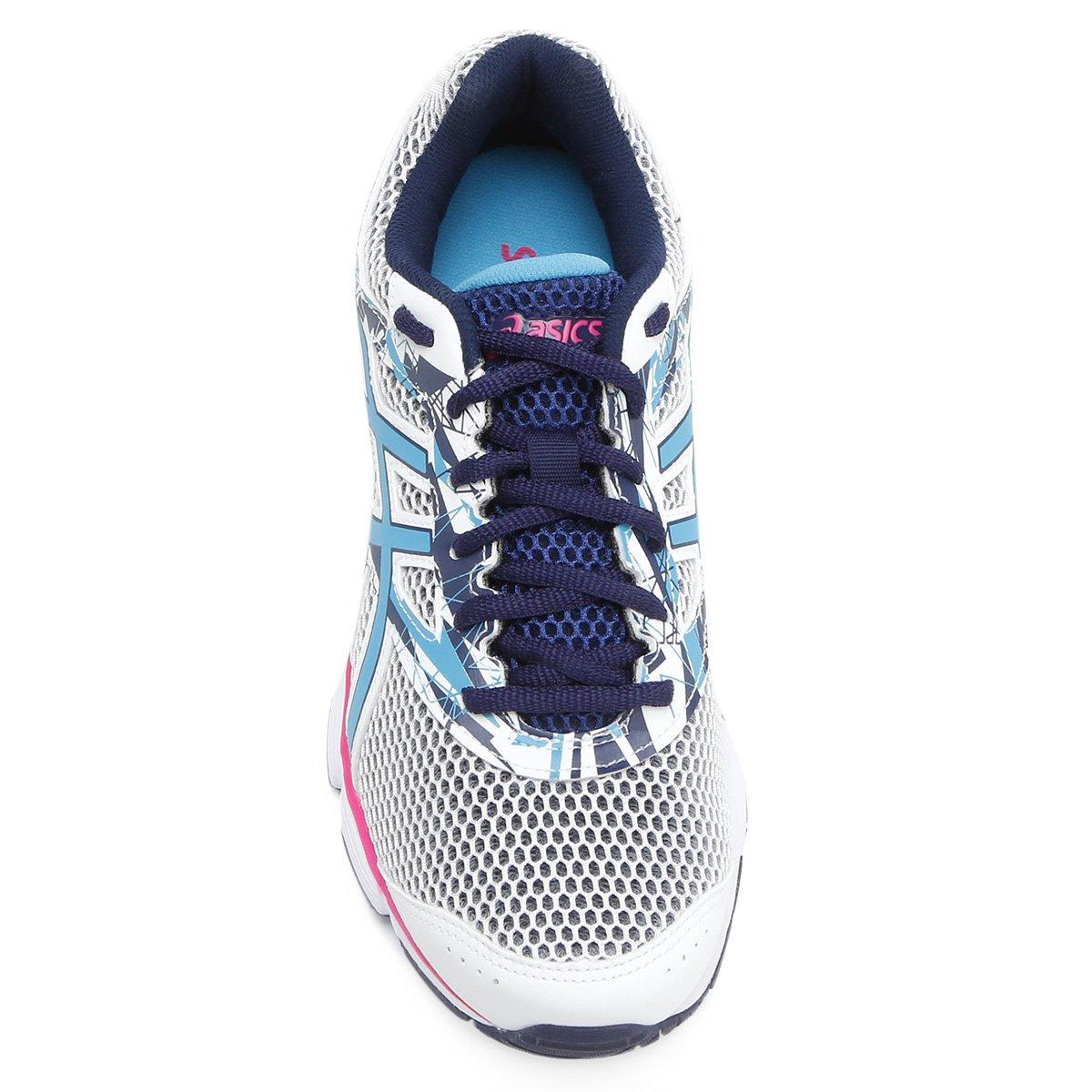 Tênis Asics GEL Excite 4 Feminino - Branco e Azul - Compre Agora ... 3cf45331d666e