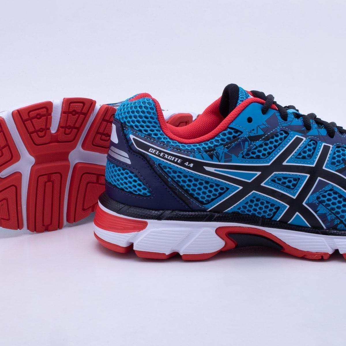 9830779b0c ... Tênis Asics GEL Excite 4 Masculino - Azul e Vermelho - Compre Agora ..  ...
