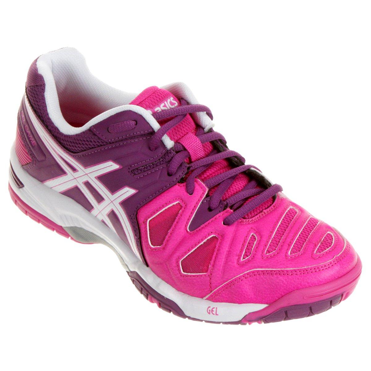 Tênis Asics Gel Game 5 - Pink e Roxo - Compre Agora  9c4af63999539