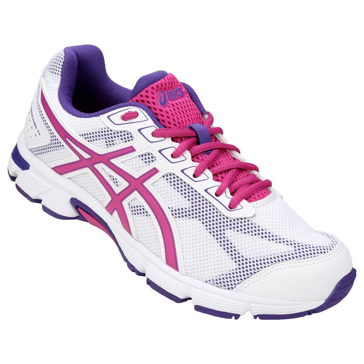 c04dd97988369 Tênis Asics Gel Impression 9 Feminino - Branco e Pink - Compre Agora ...
