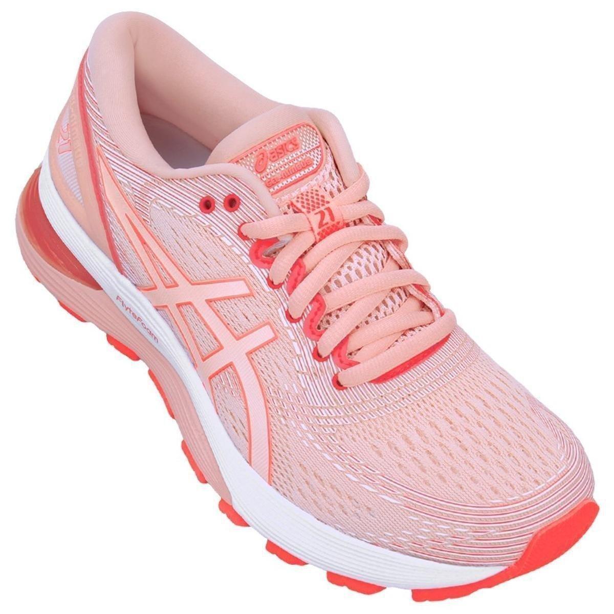 tenis asics feminino roxo e rosa junior 30