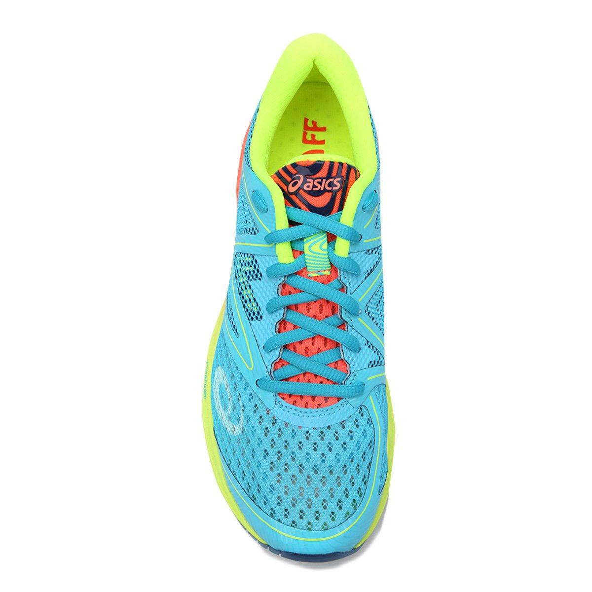 4717a87286 Tênis Asics Gel Noosa FF Feminino - Azul Piscina e Laranja - Compre ...