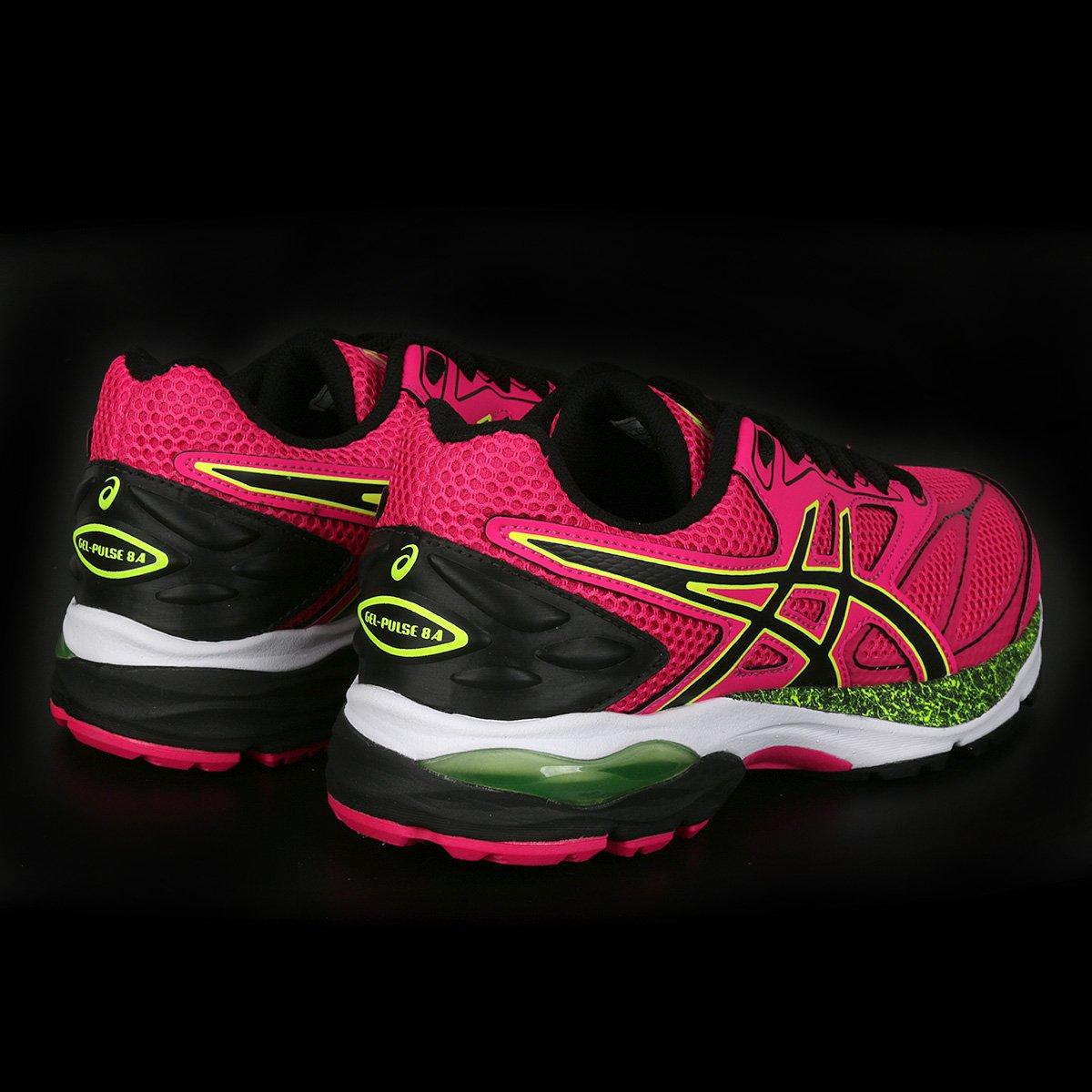 Tênis Asics Gel Pulse 8 A Feminino - Pink e Preto - Compre Agora ... ce74b76906821