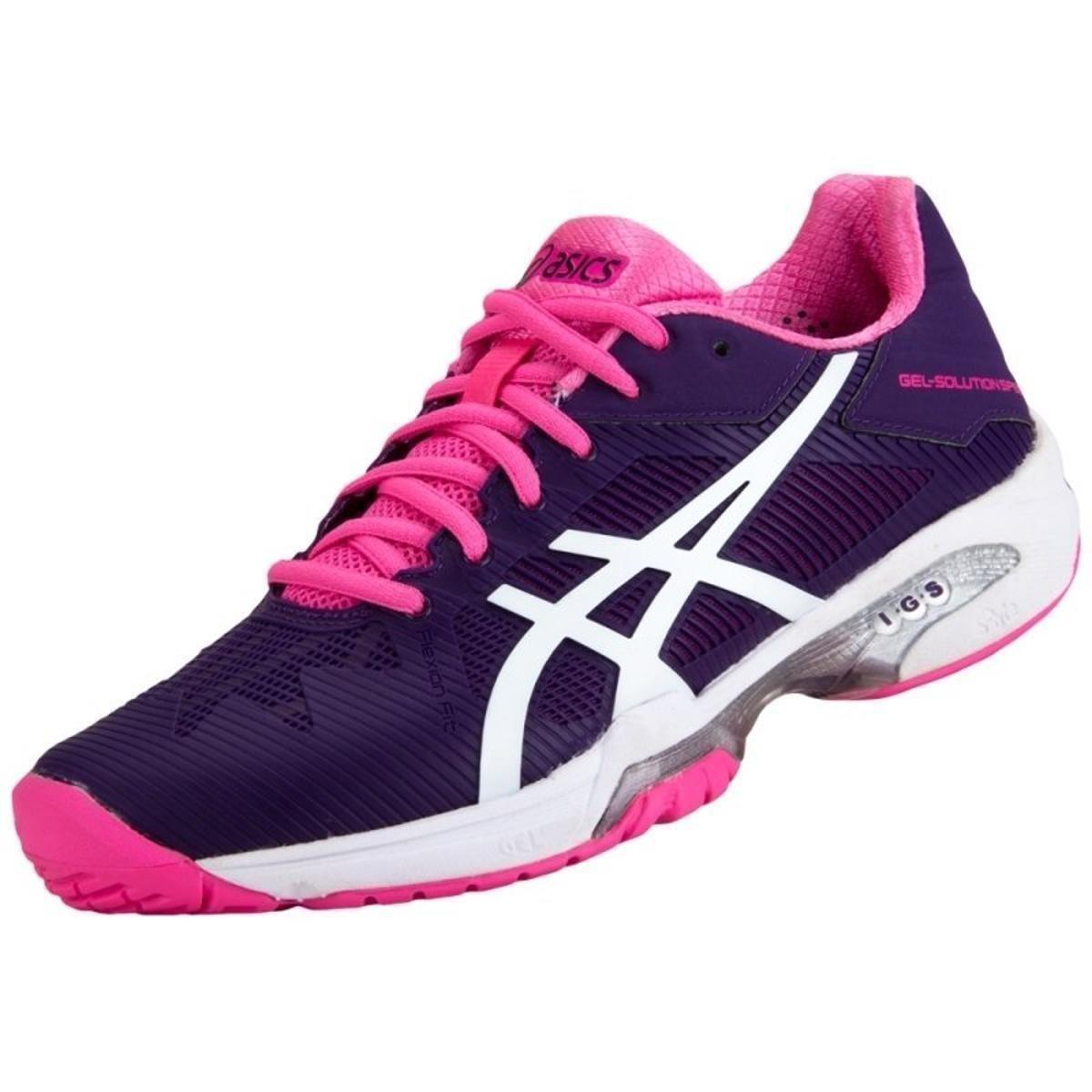 tenis asics rosa roxo