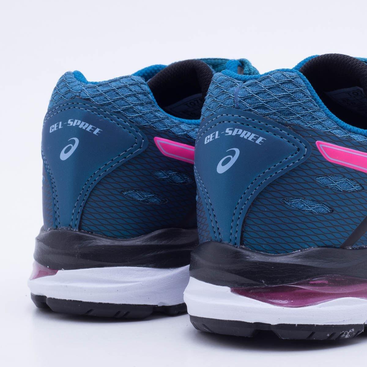 Tênis Asics Gel Spree Feminino - Azul e Rosa - Compre Agora  53a89fd839b16