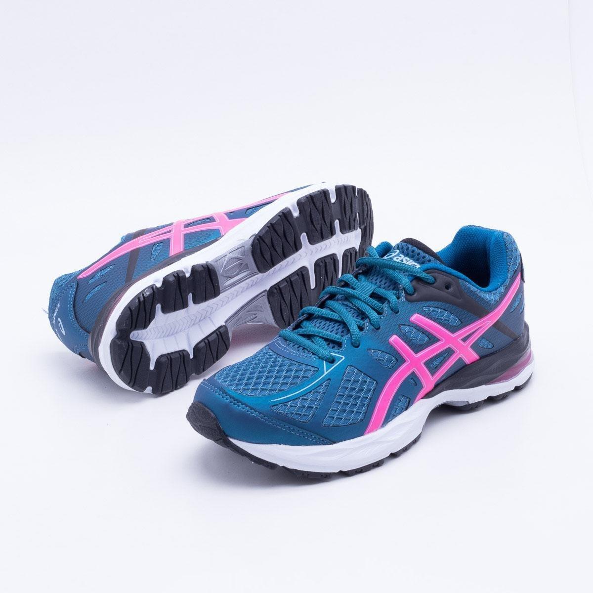 3687b9a0d4 Tênis Asics Gel Spree Feminino - Azul e Rosa - Compre Agora