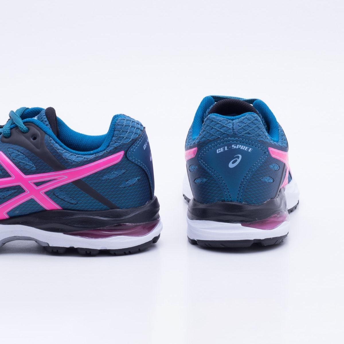 143f8806cf09a Tênis Asics Gel Spree Feminino - Azul e Rosa - Compre Agora