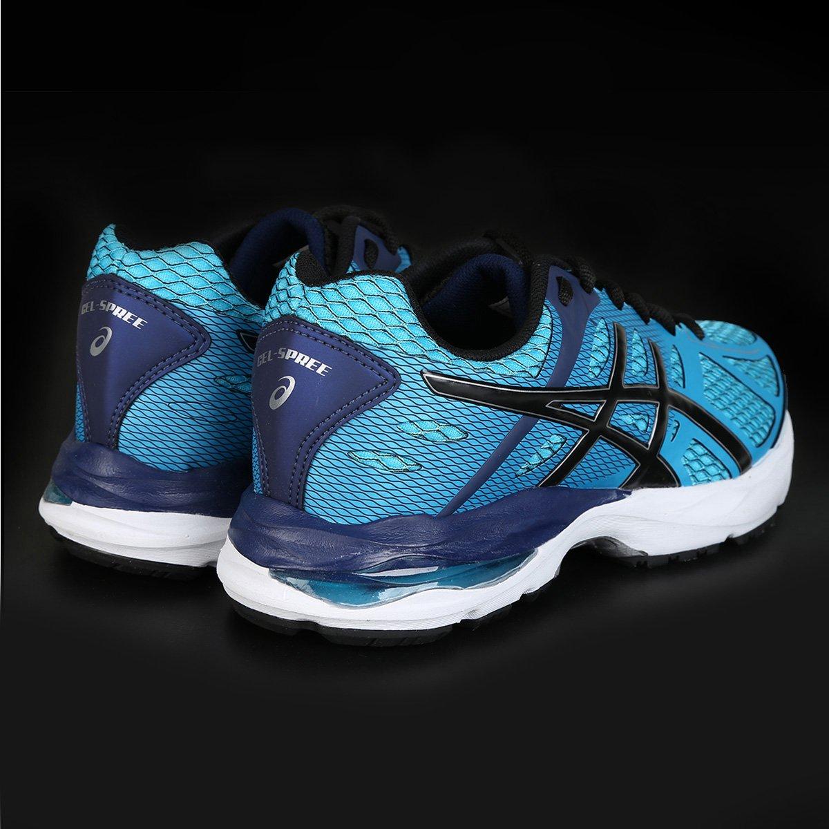 Tênis Asics Gel Spree Masculino - Azul e Preto - Compre Agora  22480d7ebb247