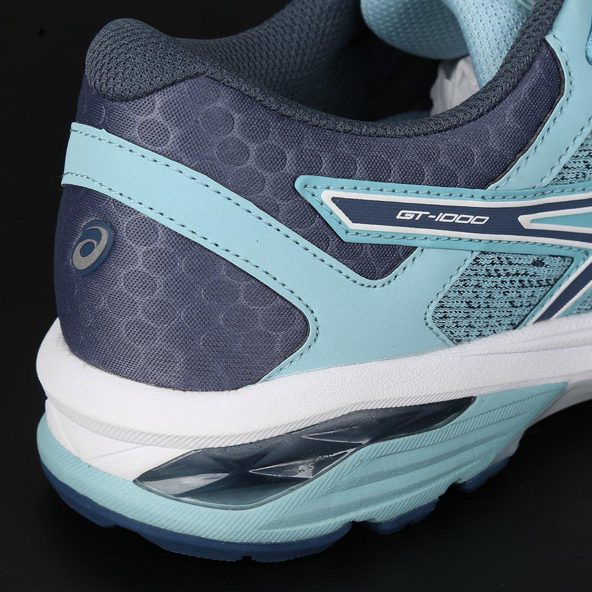 1000 Tênis Asics Feminino Feminino Gt 1000 e 6 Tênis Gt Azul Asics 6 Preto Azul e qng78vnX