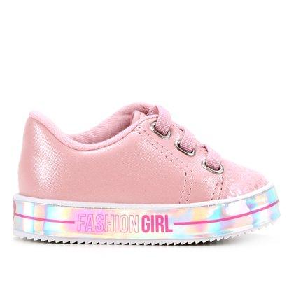 Tênis Bebê Molekinha Fashion Girl Feminino