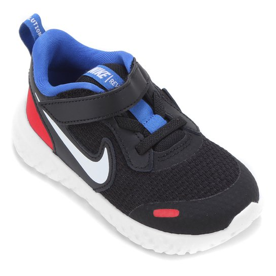 Tênis Bebê Nike Revolution 5 TDV - Preto+Off White