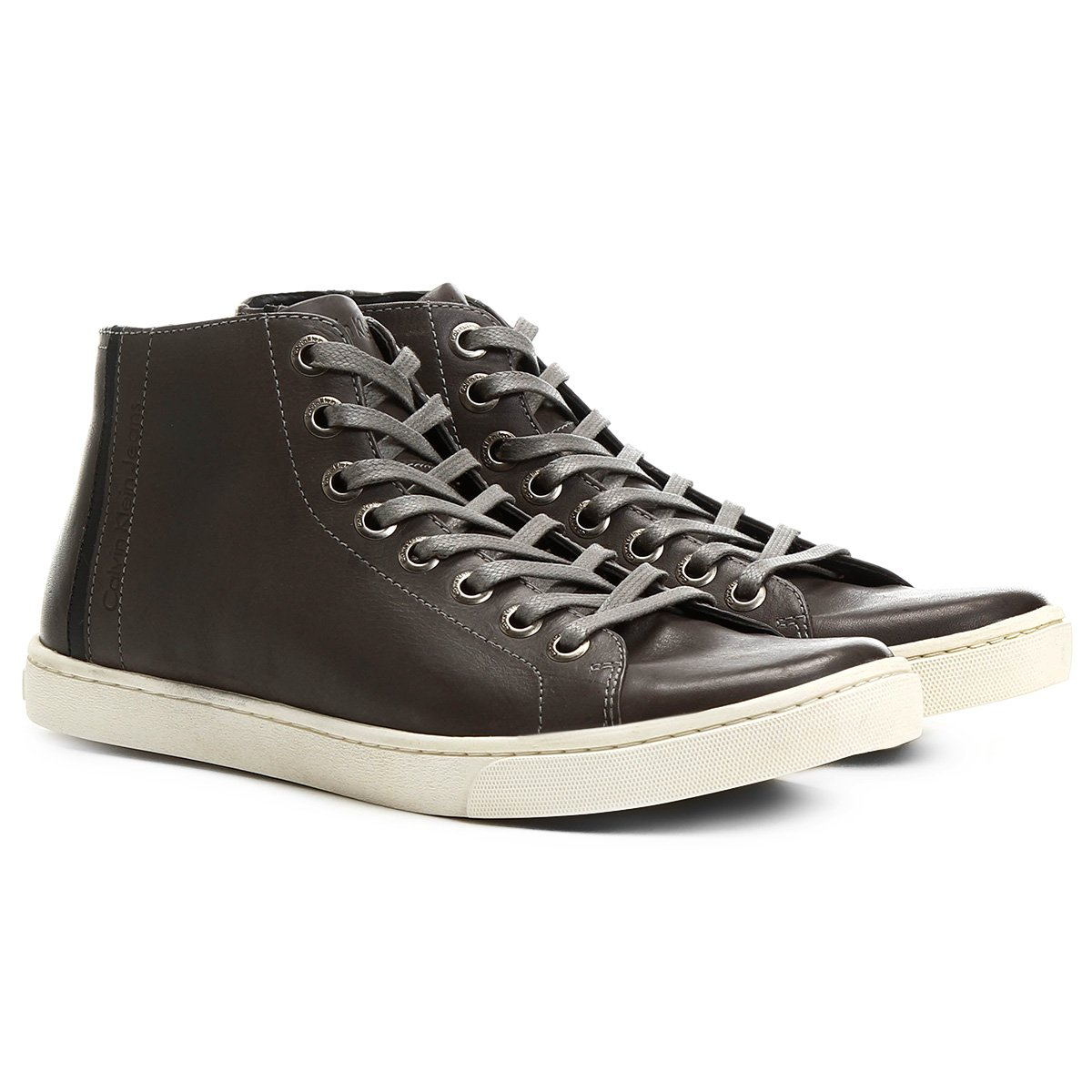 57819c54d4 Tênis Calvin Klein Cano Alto Palito