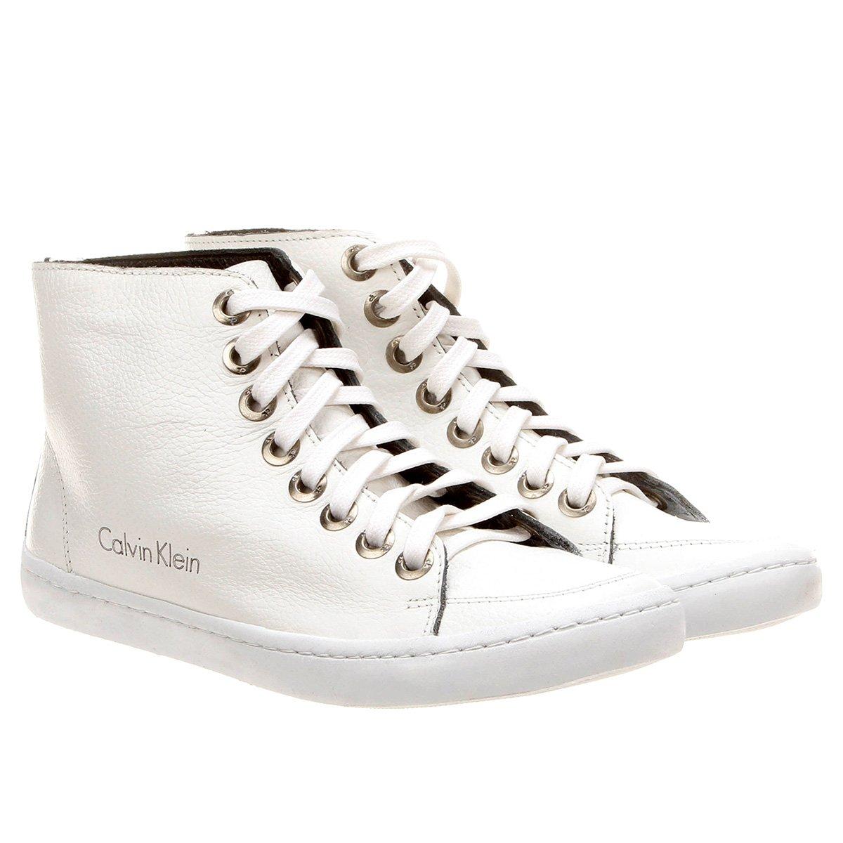 Tênis Calvin Klein Cano Alto - Compre Agora   Netshoes 0d54b1f48c